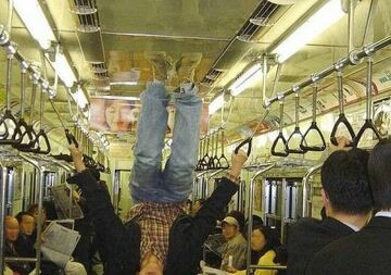 gimnastyka w metrze