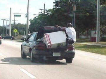 Transport dużego ładunku w bagażniku