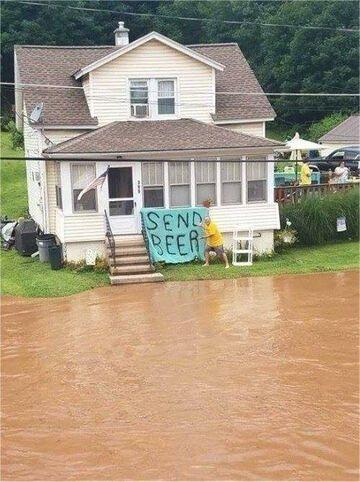 Powodzianin potrzebuje pomocy
