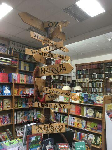 Drogowskaz w księgarni