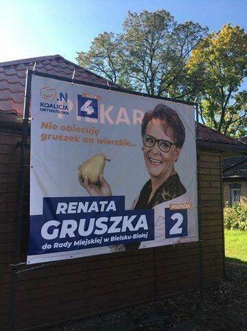 Nie obiecuje gruszek na wierzbie... Renata Gruszka
