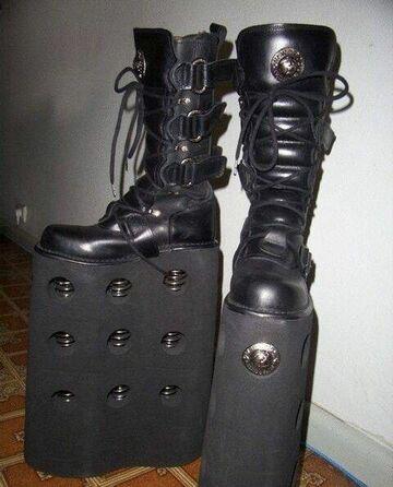 buty na wysokiej podeszwie