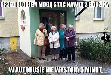 Staruszki w autobusie