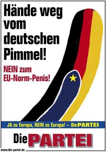 Ręce przecz od niemieckiego filutka! Nie dla unijnych norm penisa.