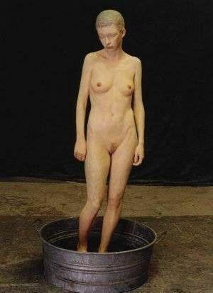 kobieta w wanience