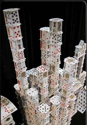 wieża z kart