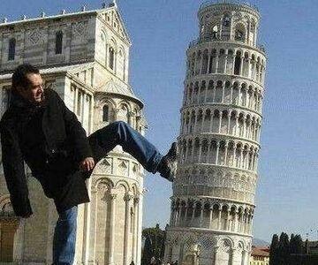 to on skrzywił wieżę
