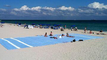Gigantyczny ręcznik plażowy 17 metrów długości i 8 szerokości