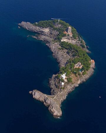 Gallo Lungo wyspa  w kształcie delfina