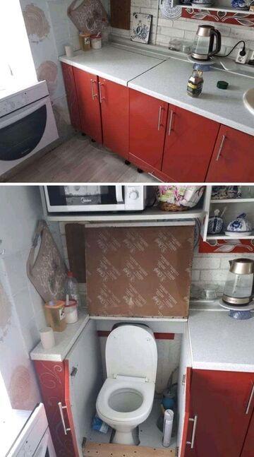 Kibel w kuchni?