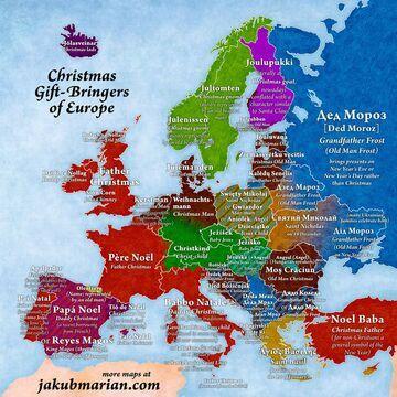 Dziady, gnomy i Ježiški - mapa prezentodawców