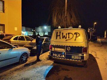 """""""HWDP"""" na samochodzie policyjnym"""