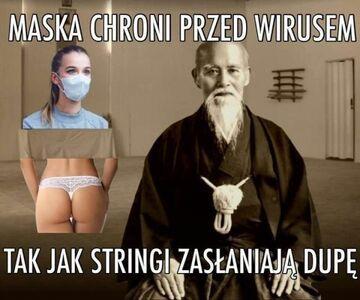 Maska chroni przed wirusem ...
