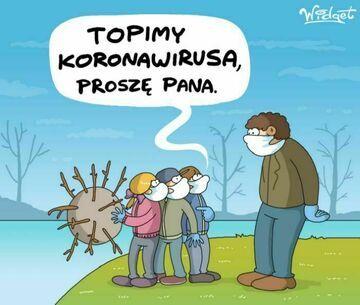 Topienie koronowirusa
