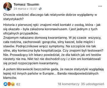 Sytuacja epidemi koronowirusa w Polsce