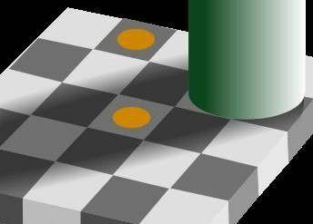 Obie kropki są na szarym tle