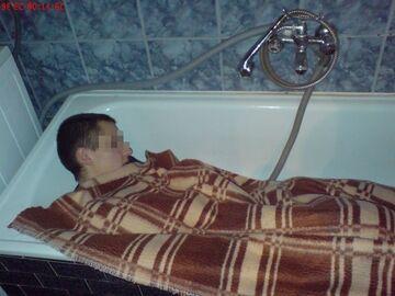 Śpi w wannie