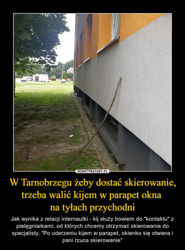 Tym czasem w Tarnobrzegu, żeby dostać skierowanie ...