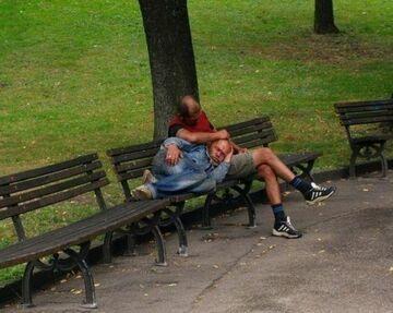 Drzemka w parku