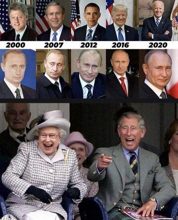 Prezydenci USA i Rosji w roku 2000-2020