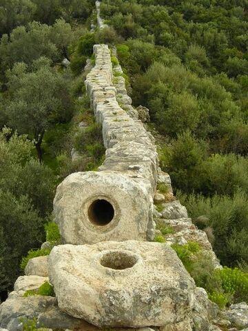 Starożytny rzymski akwedukt, Patara w Turcji