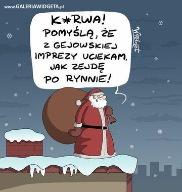 Mikołaj na dachu