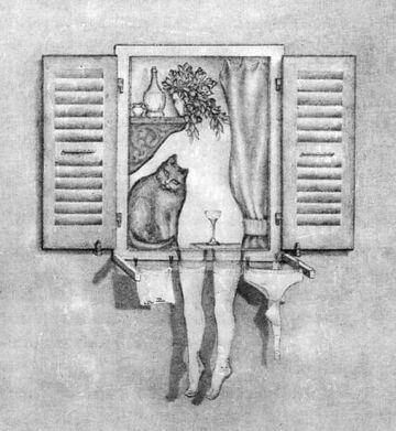 nogi za oknem