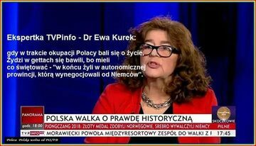 Ekspertka Dr Ewa Kurek w TVPInfo o okupacji