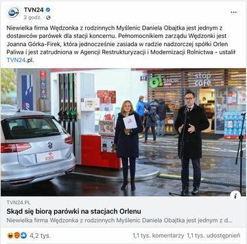 Kto jest dostawcą parówek na stacjach Orlenu