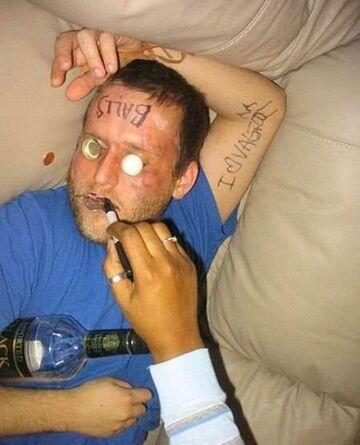 Nie zasypiaj pijany przy kobiecie