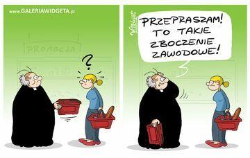 Ksiądz na zakupach