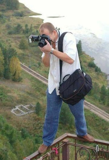 fotograf na krawędzi