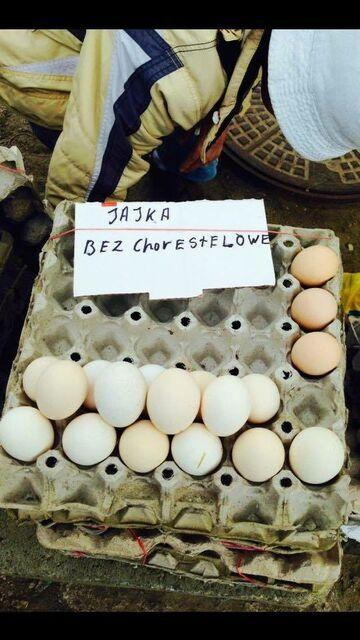 Jaja na Gdańskim rynku