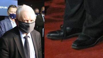 Kaczyński przyjechał na konwencje Partii Republikańskiej w dwóch różnych butach?