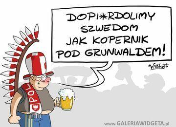 Kibic mecz Polska-Szwecja