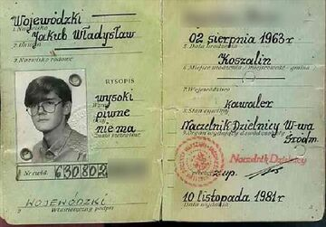 Kuba Wojewódzki - scan dowodu