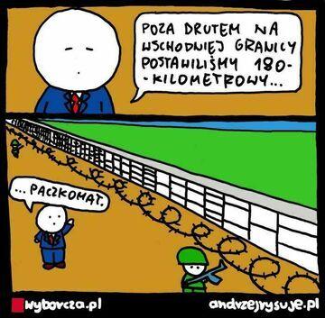 Współczesny mur na granicy polsko-białoruskiej