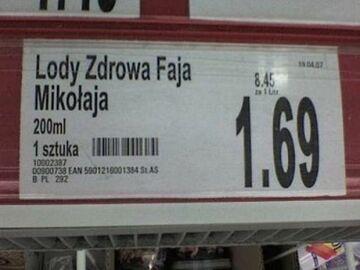 Lody Zdrowa Faja Mikołaja