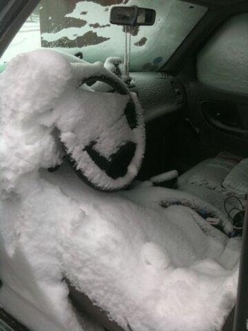 Zima zaskoczyła kierowce