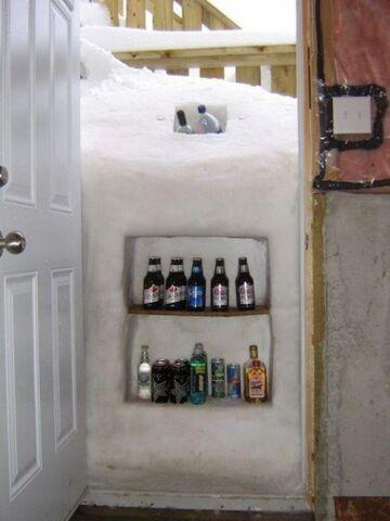 Zimowa lodówka