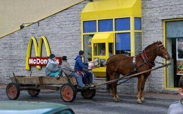 Furmanką do McDonalda