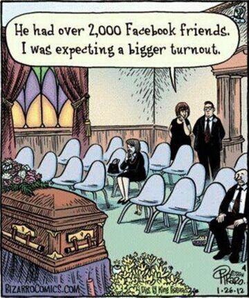 Miał ponad 2000 znajomych na Facebook