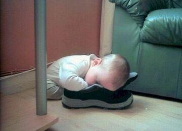 Zasnął na bucie