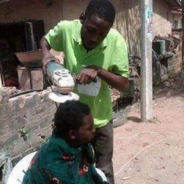 Tymczasem u fryzjera...