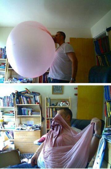 Ogromny balon z gumy do żucia!