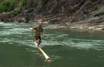 Bambusowa łódź