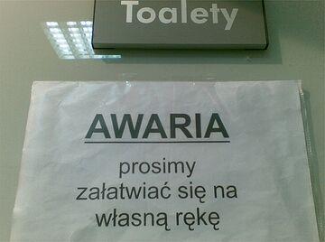 Toalety - AWARIA