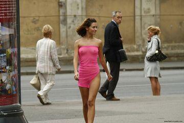 Hot girl walking
