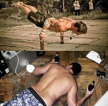Znajdź różnice - butelki i fitness