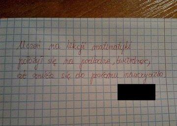 Uwaga od nauczyciela Matematyki